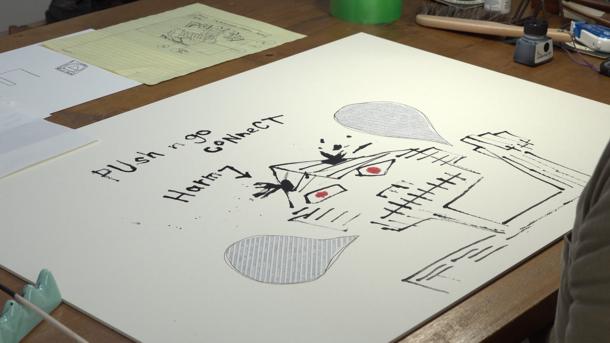 映画『エポックのアトリエ 菅谷晋一がつくるレコードジャケット』より (C)2020「エポックのアトリエ」製作委員会