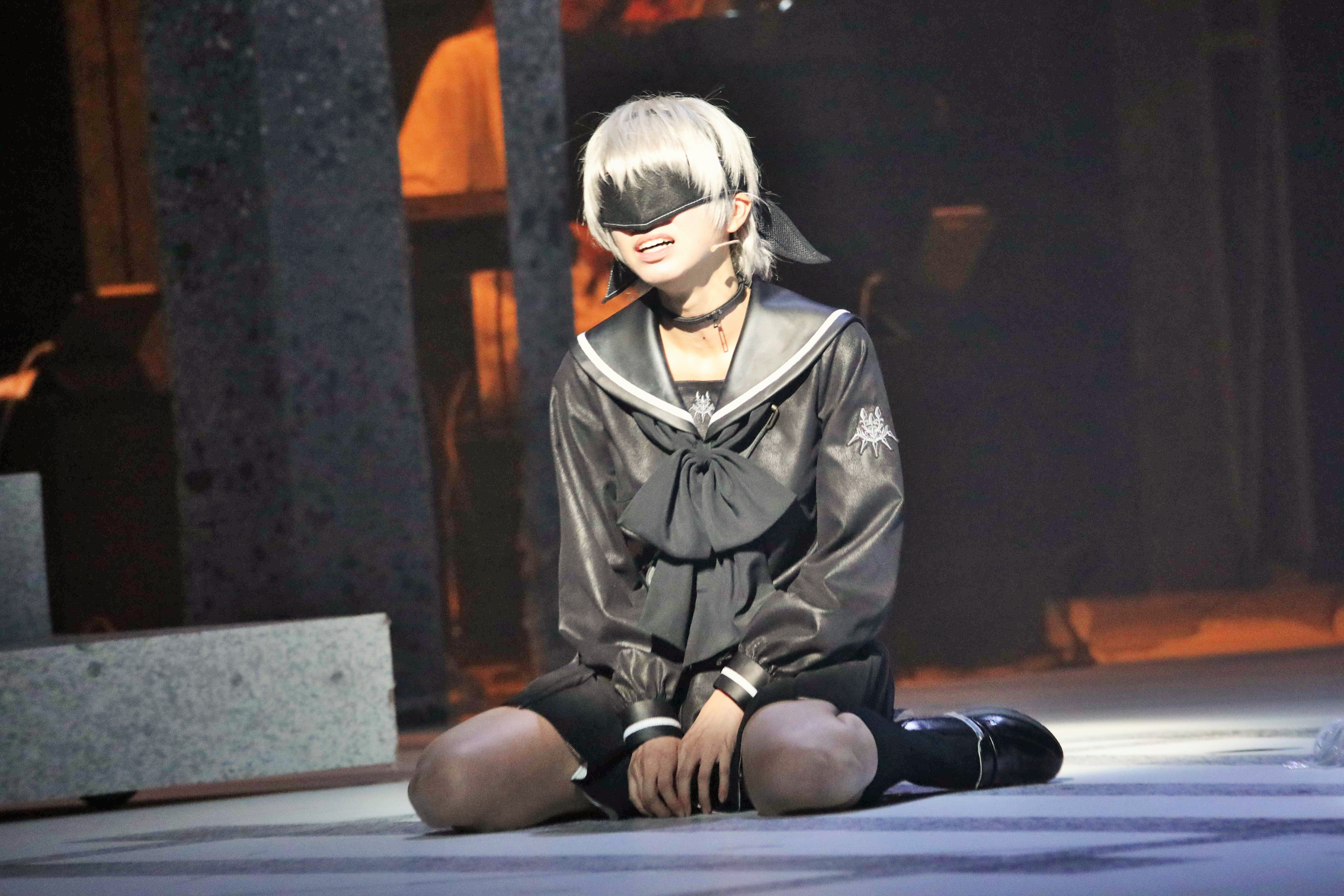『舞台 少⼥ヨルハVer1.1a』九号を演じる大西桃香