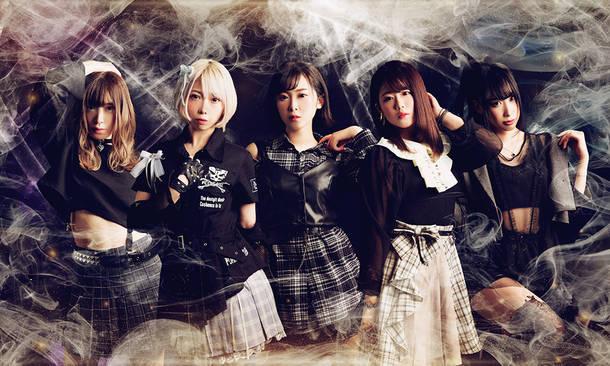 L→R アンズ卍100%、小谷茉美子、Koyoka、菊地桃子、メロネサリ