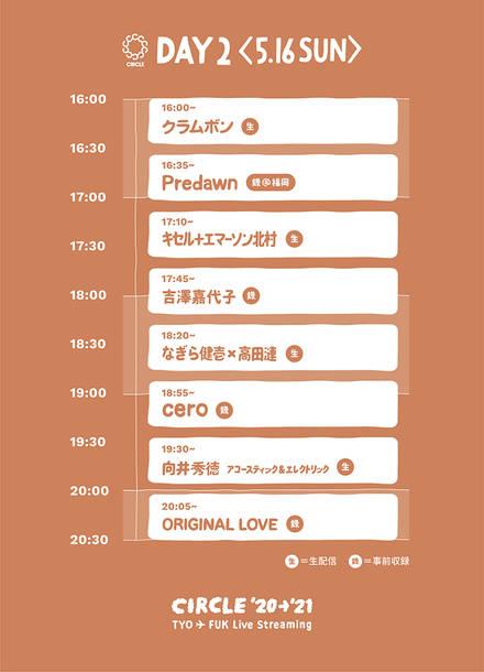 『CIRCLE '20→'21 東京▲福岡 実況中継』Day2