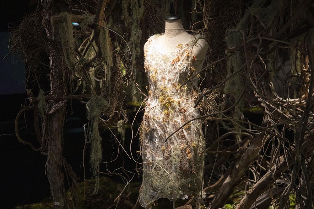MVの撮影で宇多田ヒカルが実際に着用した衣装(植物) photo by キセキミチコ