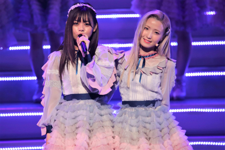 宮里莉羅と本田仁美 ©AKB48 THE AUDISHOW製作委員会 無断アップロード及び転送は一切禁止です。