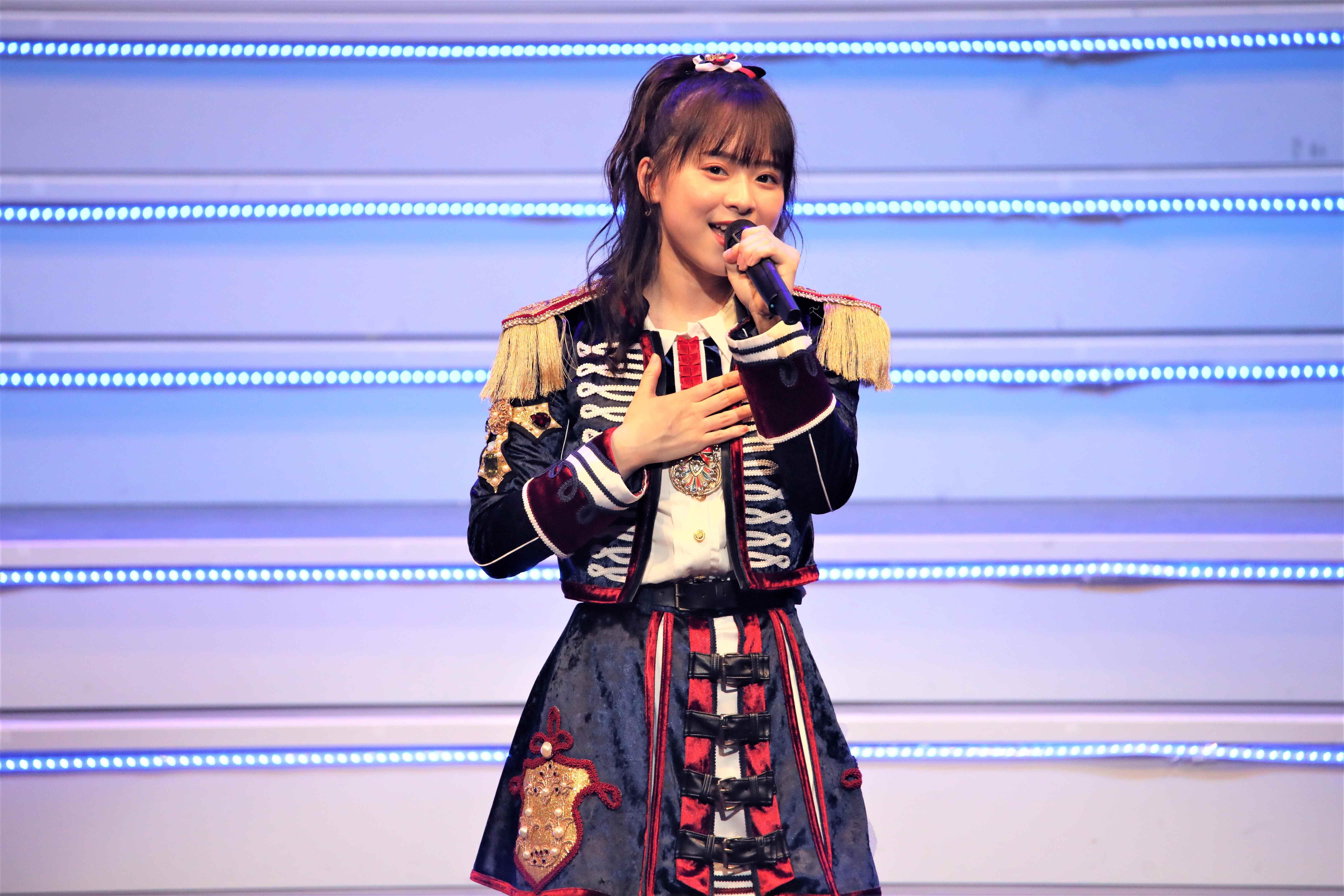 倉野尾成美「赤いスイートピー」©AKB48 THE AUDISHOW製作委員会  無断アップロード及び転送は一切禁止です。