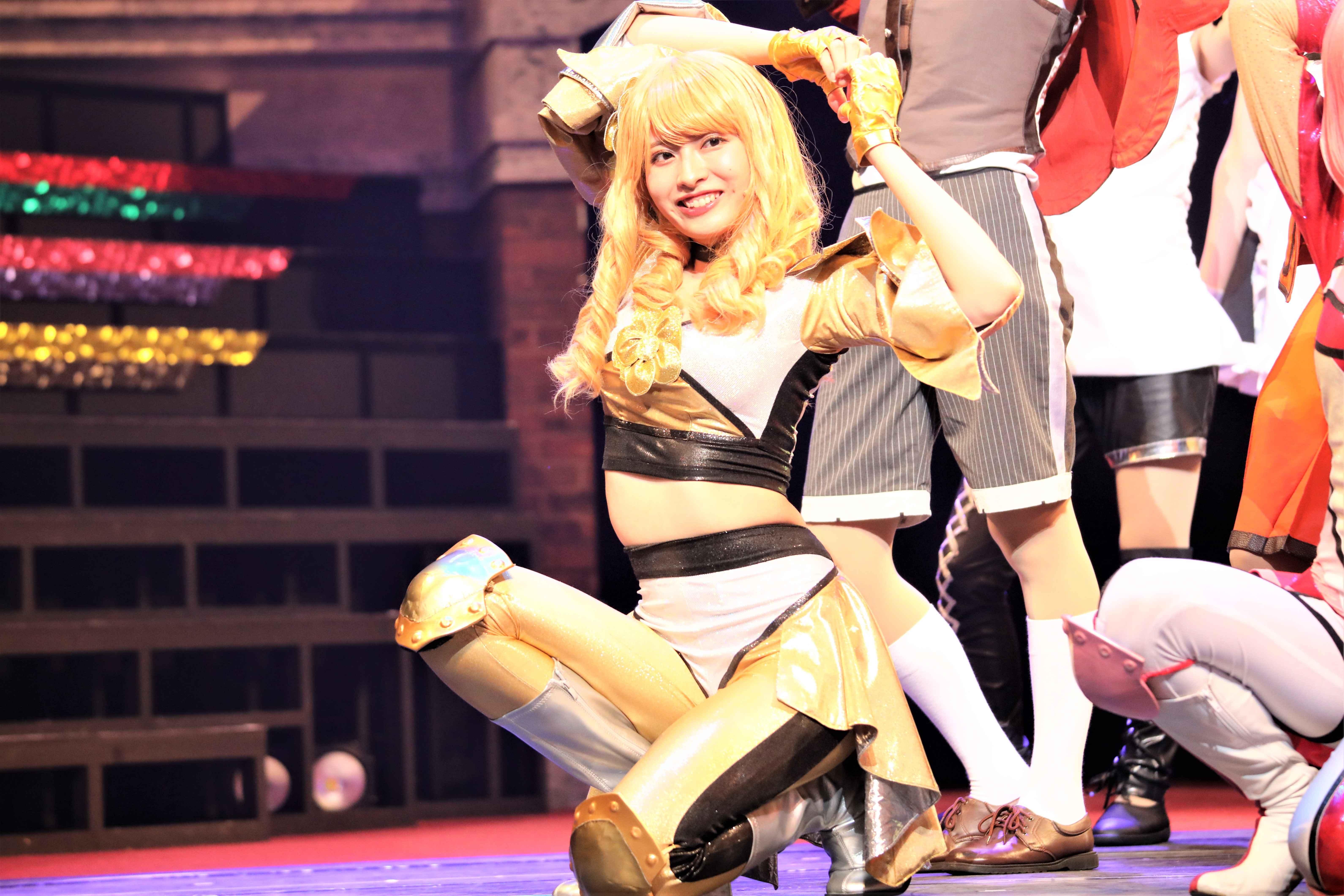 ライブパートでのラブリーハニー ©永井豪/ダイナミック企画・舞台「Cutie Honey Climax」製作委員会 無断アップロード及び転送は一切禁止です。