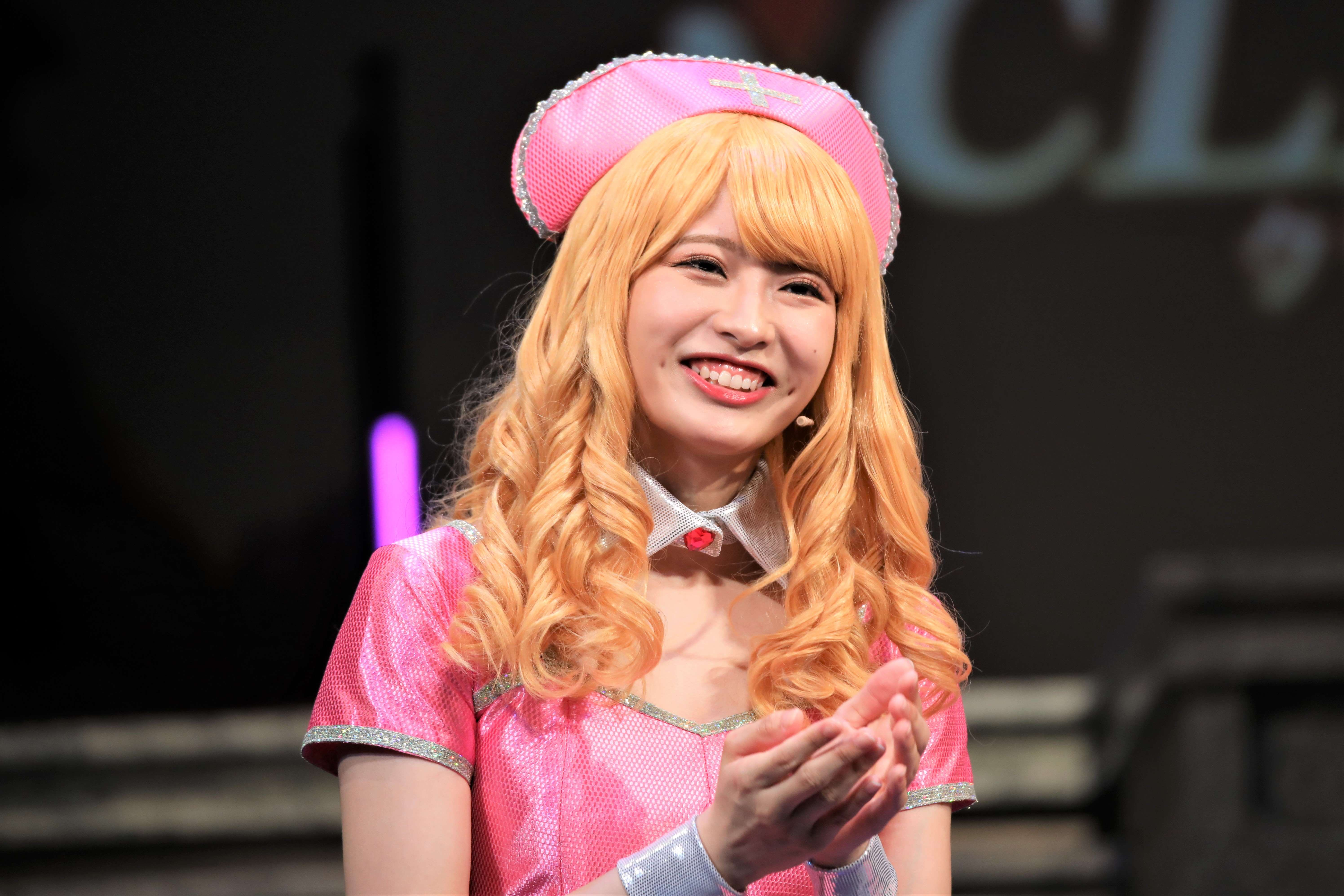 行天優莉奈「それでは、癒しということで、よろしくお願いします(笑)」©永井豪/ダイナミック企画・舞台「Cutie Honey Climax」製作委員会 無断アップロード及び転送は一切禁止です。