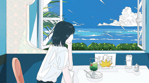 「夏色のおもいで」暑中見舞いポストカードSAMPLE画像