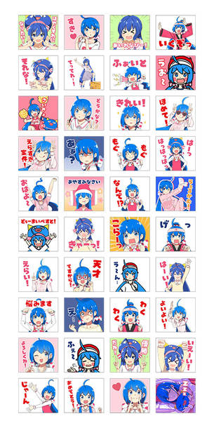 『キノシタ×音街ウナ LINEスタンプ』(c)MTK / INTERNET Co., Ltd.