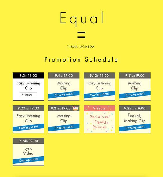 2ndアルバム『Equal』プロモーションカレンダー