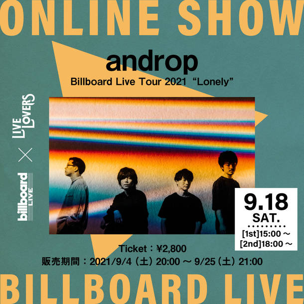 """androp Billboard Live Tour 2021 """"Lonely"""""""