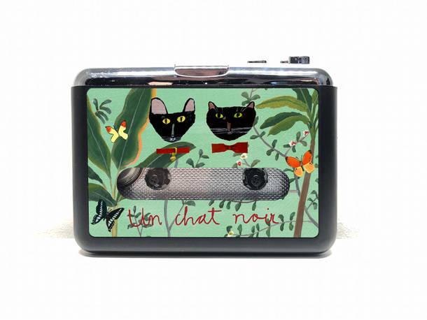 黒猫同盟オリジナルグッズ ポータブルカセットプレーヤー