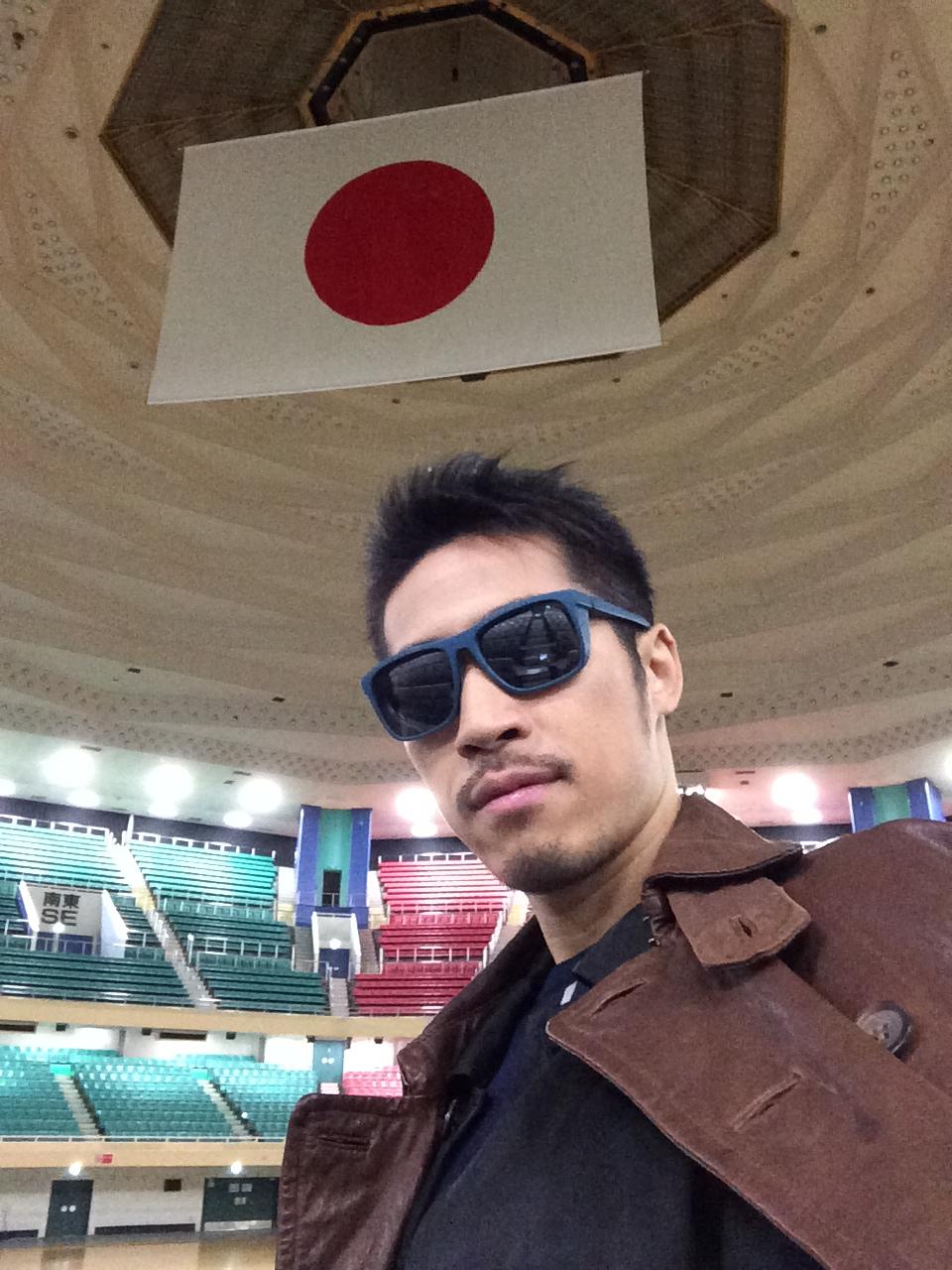 日の丸かっこいい〜!なんか日本代表になった気分。