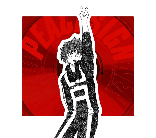 シングル「ピースサイン」【ヒーロー盤(初回限定)】(CD+赤ジュエルケース+ヒロアカTCGカード)
