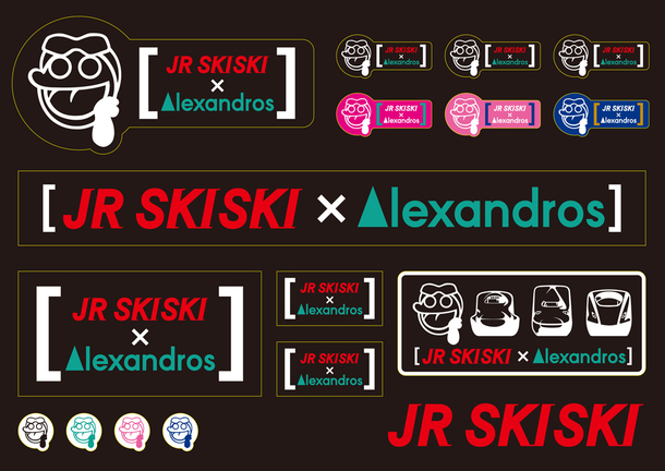 JR SKISKIx[Alexandros] ステッカー