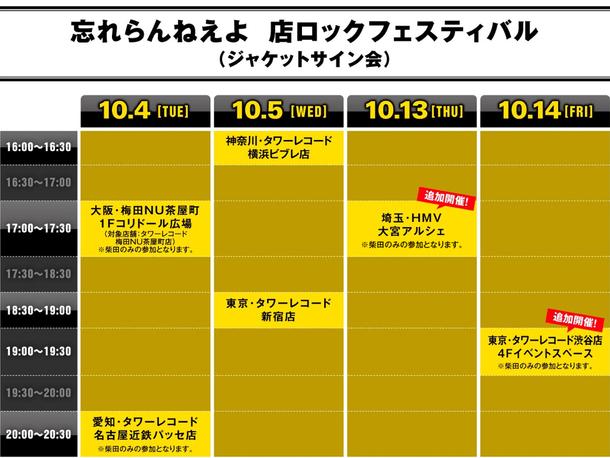 『店ロックフェスティバル』タイムテーブル