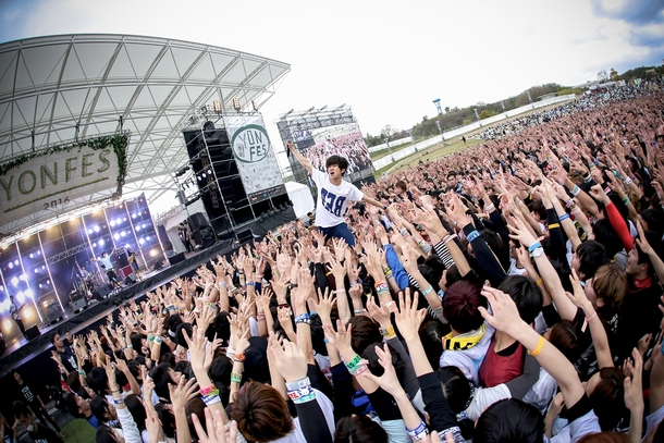 4月3日(日)@『YON FES 2016』キュウソネコカミ photo by Viola Kam (V'z Twinkle Photography)