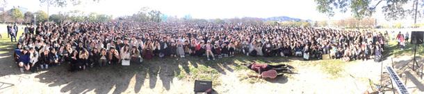 広島での路上ライブ