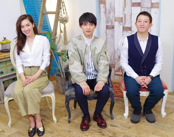 番組MC、左から中村アン、吉沢亮、サバンナ高橋 (c)TBS
