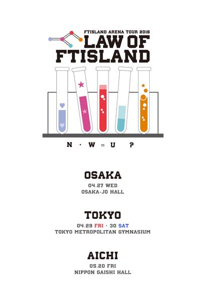 「FTISLAND Arena Tour 2016 -Law of FTISLAND:N.W.U -」ロゴ