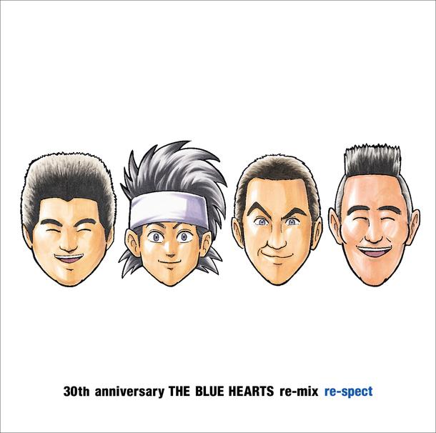 ゆでたまご氏が描き下ろしTHE BLUE HEARTSメンバー