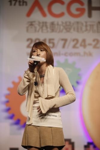 """香港にて、""""ACG""""会場での「アルスラーン戦記×無双」トークイベントにゲスト出演した藍井エイル"""