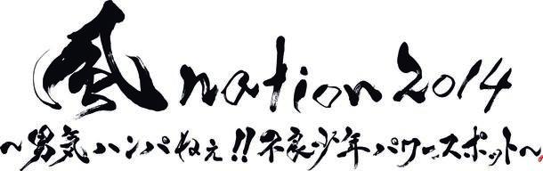 『風nation2014~男気ハンパねぇ!!不良少年パワースポット~ supported by カーセブン』ロゴ
