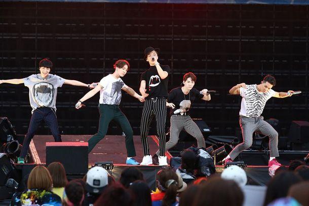 【WINNER】【BIGBANG】8月29日@「a-nation stadium fes.」