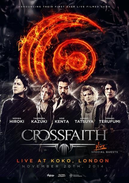 Crossfaith『APOCALYZE NOW 2014 UK TOUR』Koko, London公演ポスター