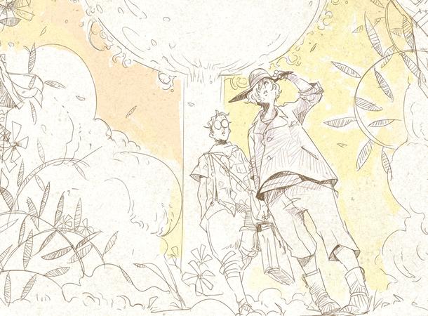 あまざらし プレミアムライブ 千分の一夜物語「スターライト」第一章前編のイラスト