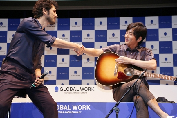 『GLOBAL WORK 20TH ANNIVERSARY THE LAUNCH EVENT 2014』に大沢たかおと長澤まさみと出演