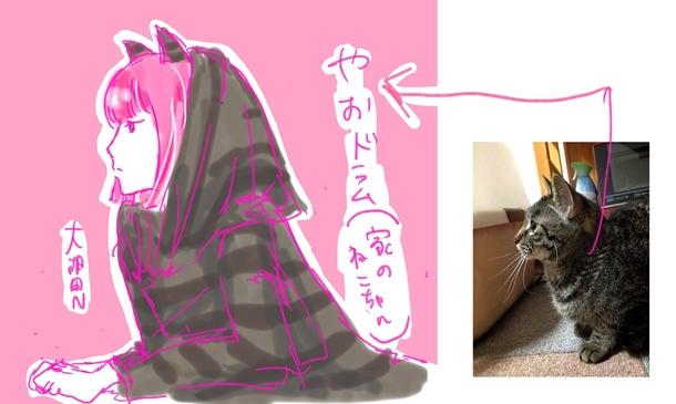 「ONOMIMONO」のネコ化見本画像