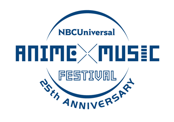 『NBCUniversal ANIME×MUSIC FESTIVAL ~25th ANNIVERSARY~』ロゴ