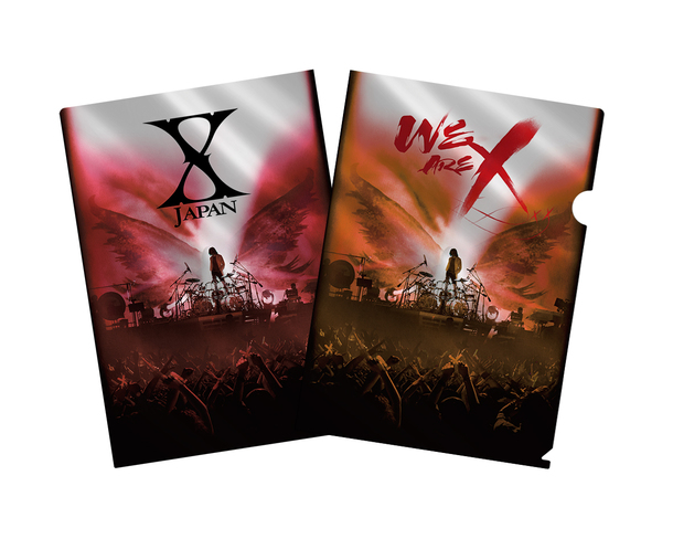 Blu-ray&DVD『WE ARE X』購入者特典メタリックアファイル(セブンネットショッピング)