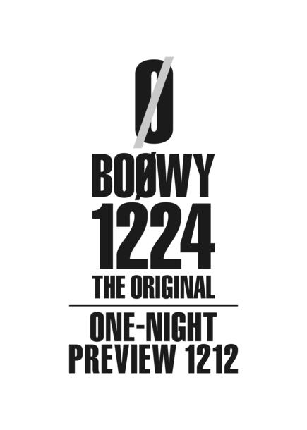 特別上映会『BOØWY1224 -THE ORIGINAL- ONE-NIGHT PREVIEW 1212』ロゴ