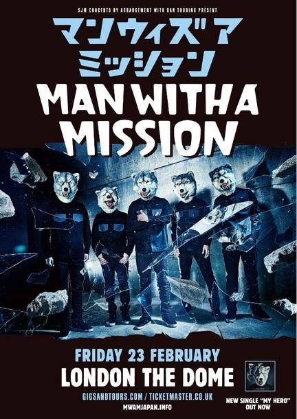 MAN WITH A MISSION 2018年2月23日ロンドン単独公演