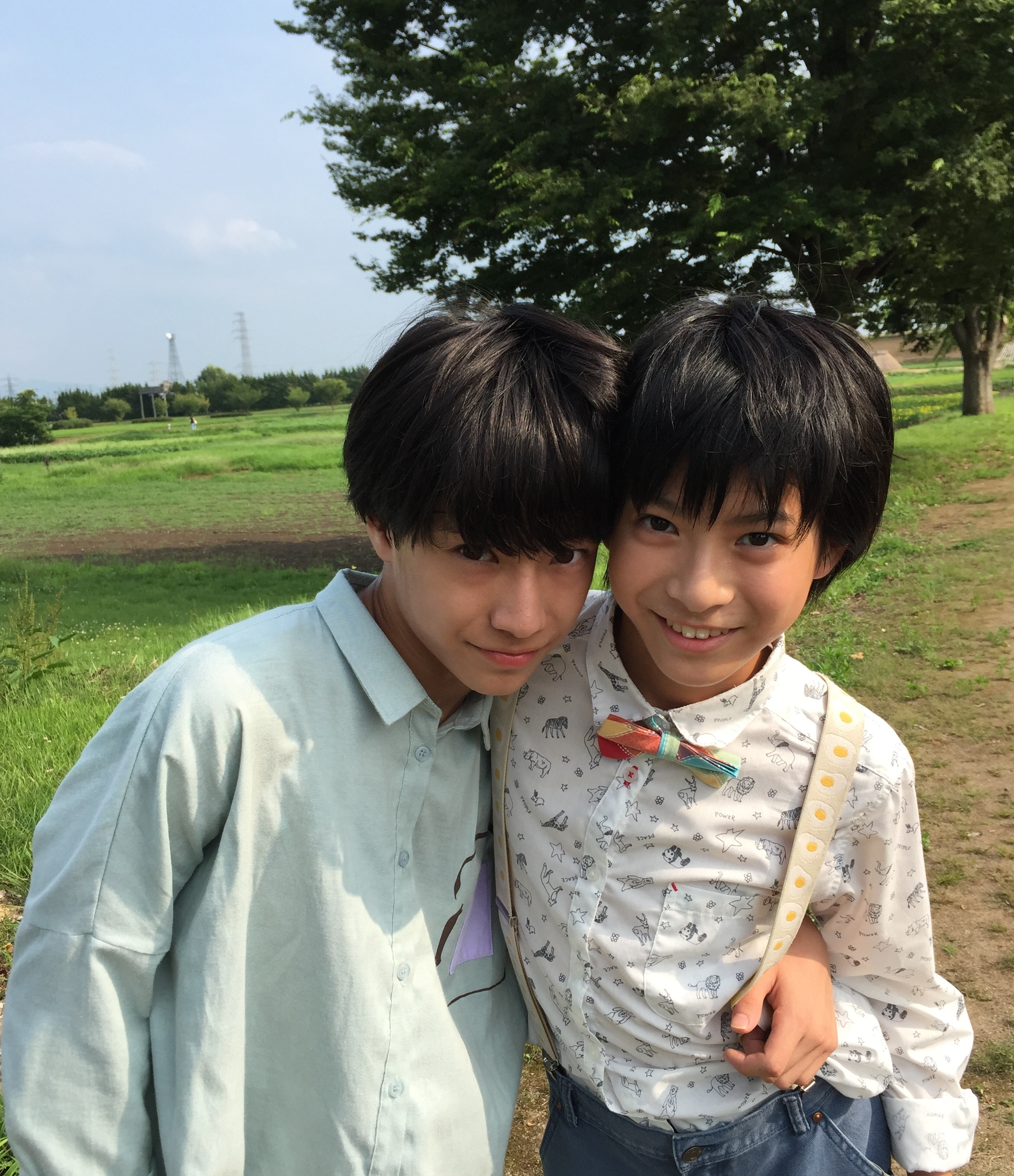 髙田彪我(写真右)田中雅功(写真左)