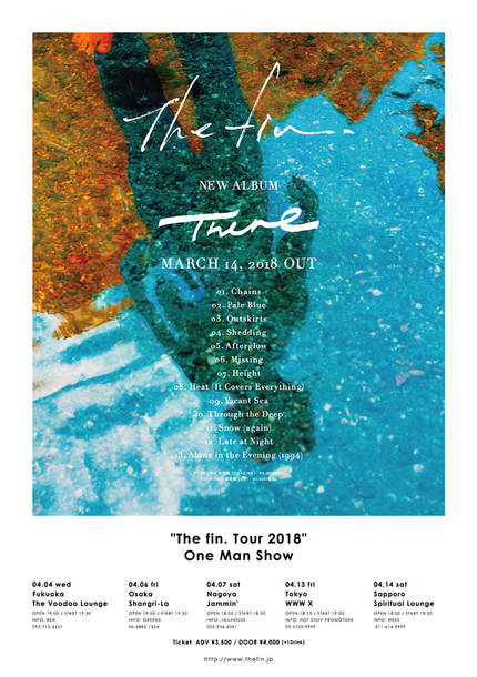 『The fin. Tour 2018 in Japan』フライヤー