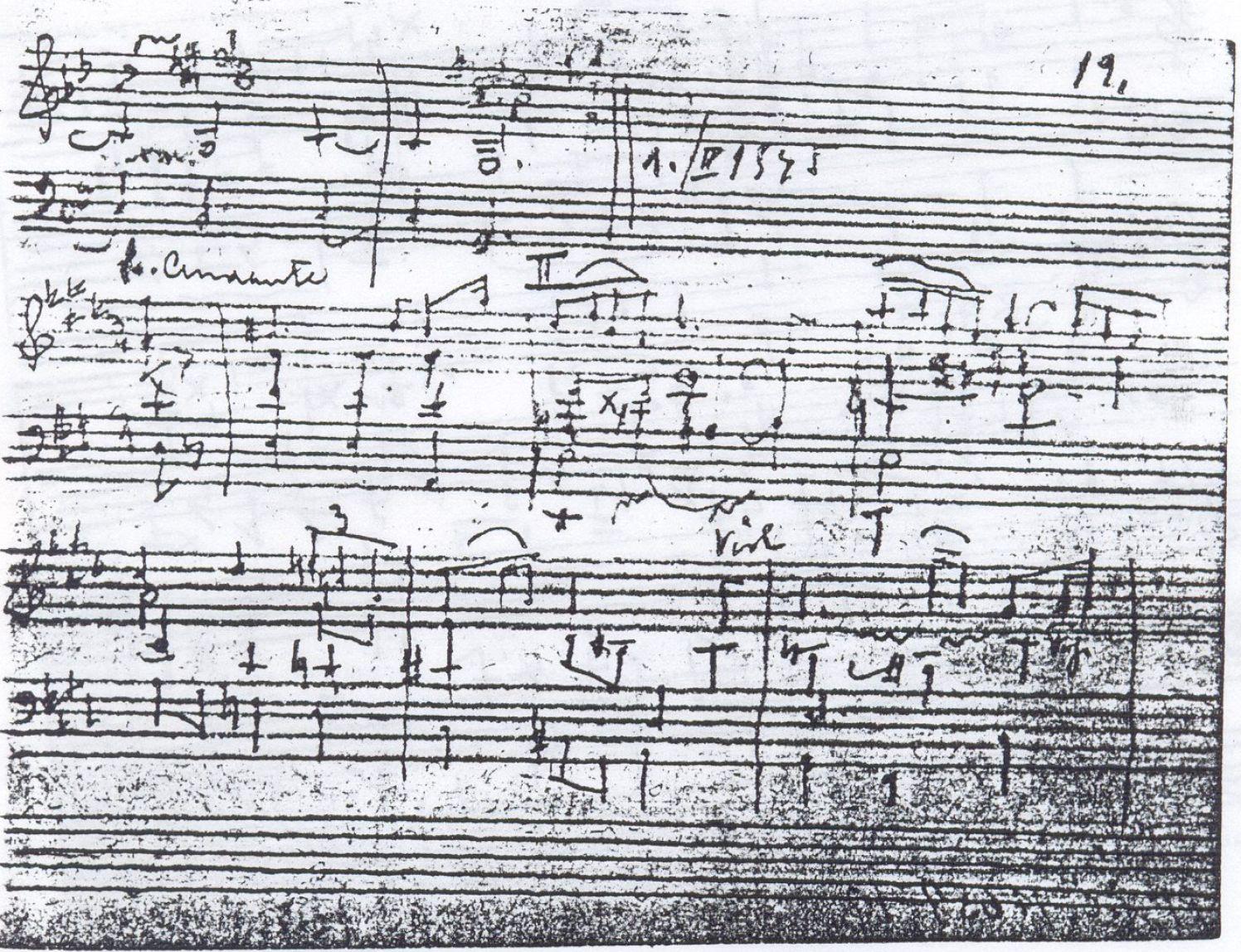 ユダヤ系チェコ人の作曲家Rudolf Karel氏がテレジエンシュタットで作った楽曲(Courtesy of JNF UK / PHA GROUP)