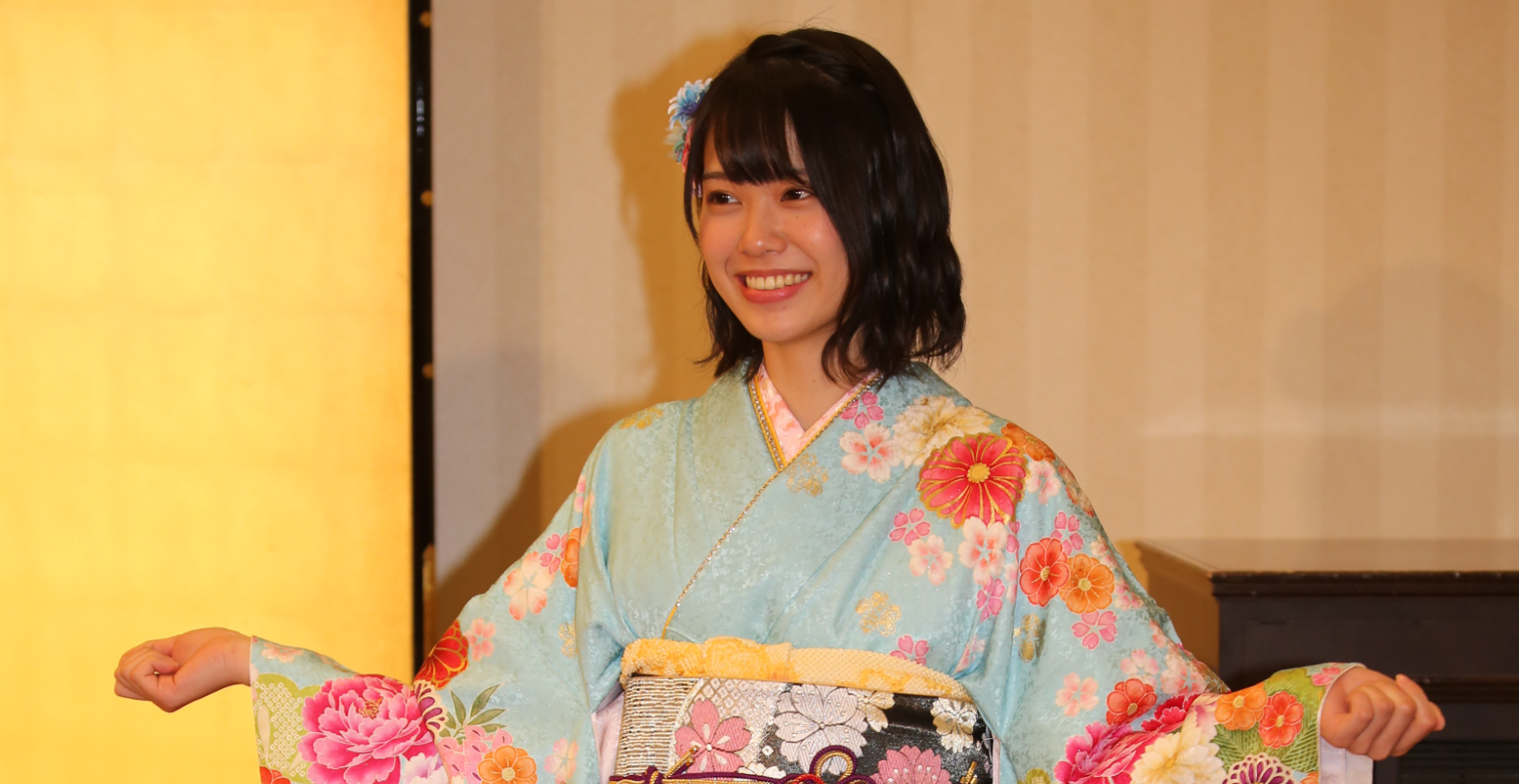 小田えりな(神田明神でのAKB48成人式にて、2018年1月)