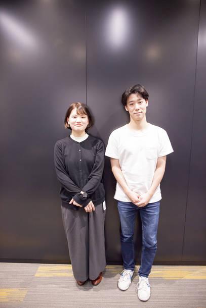小袋成彬、林 なな(日本工学院専門学校 蒲田校 コンサートイベント科)