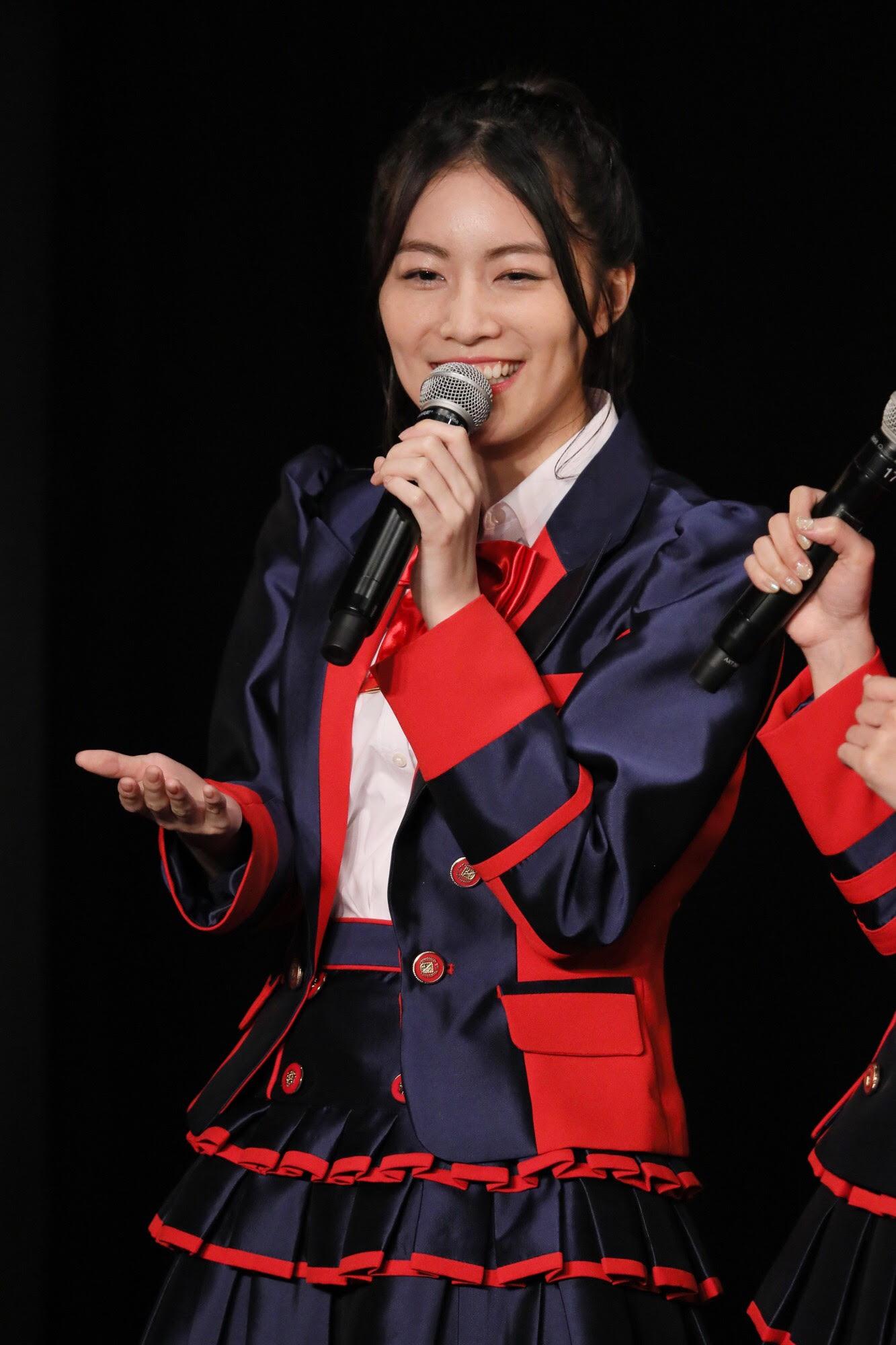 松井珠理奈「みなさんと⼀緒にこれからも新しいSKE48を作っていって、みんなで盛上げていけたらいいなと思っています」 (C) AKS