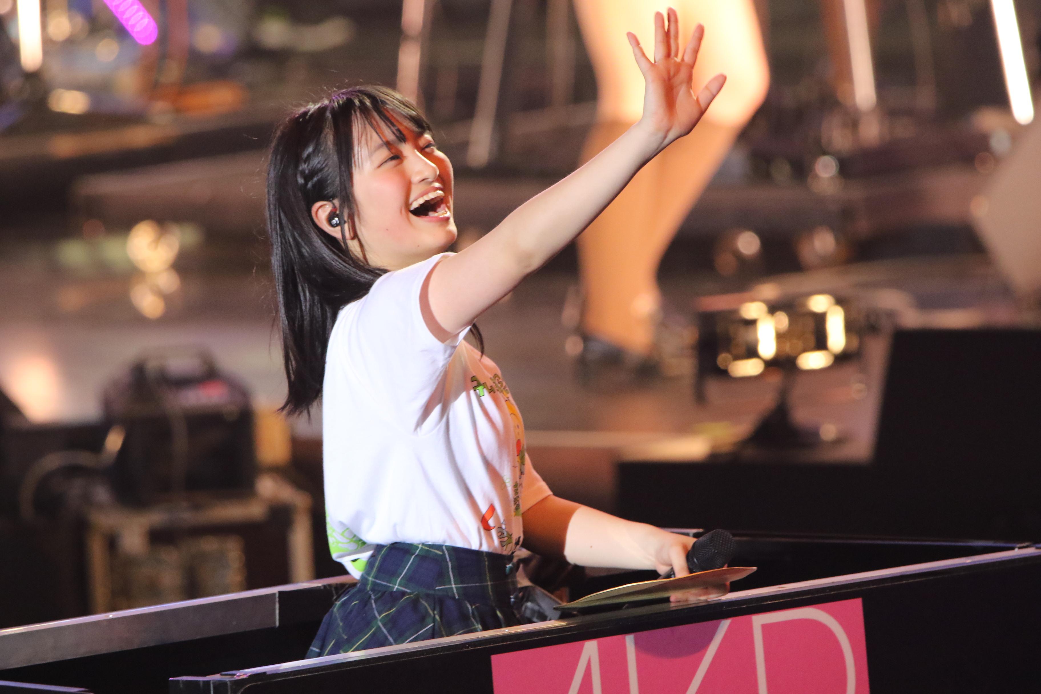 「チーム8結成4周年記念祭 in 日本ガイシホール しあわせのエイト祭り」での下青木(2018年4月)