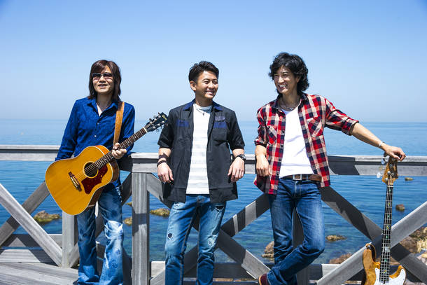 L→R 大田紳一郎(Vo&Gu)、吉本大樹(Vo)、徳永暁人(Vo&Ba)