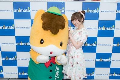 トークイベントでぐんまちゃんと共演した内田彩