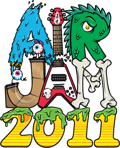 <AIR JAM2011>イベントロゴによるTシャツやタオルなどを販売