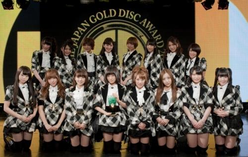 AKB48 ゴールドディスク大賞 「アーティスト・オブ・ザ・イヤー」はじめ10冠獲得
