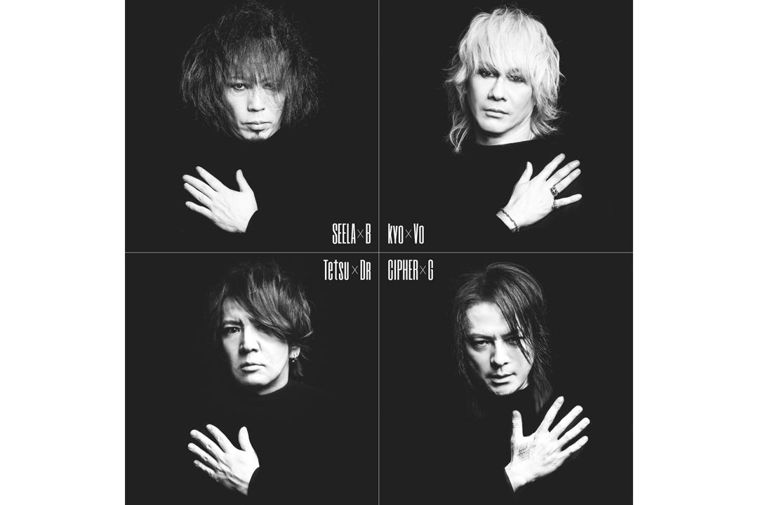 写真左上より時計回り、SEELA(Ba)、kyo(Vo)、CIPHER(Gu)、Tetsu(Dr)