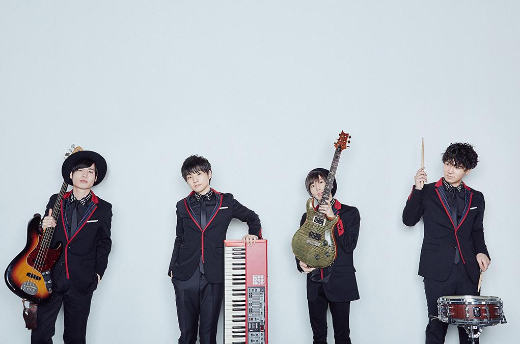 L→R 楢崎 誠(Ba)、藤原 聡(Vo&Piano)、小笹大輔(Gu)、松浦匡希(Dr)