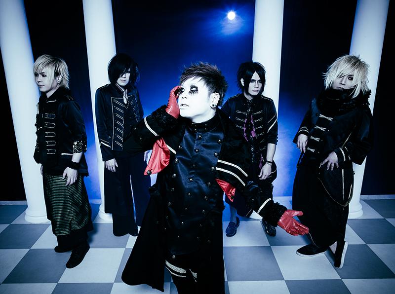L→R Shinno(Gu)、Kyrie(Gu)、団長(Vo)、華凛(Ba)、K(Dr)
