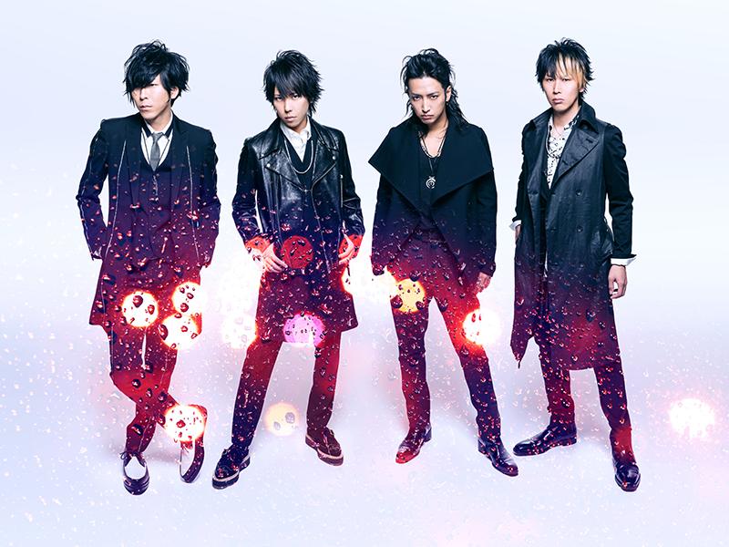 L→R Shinji(Gu)、マオ(Vo)、明希(Ba)、ゆうや(Dr)