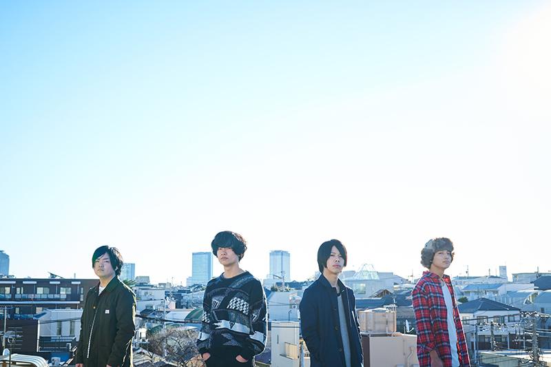 L→R 杉山優生(Dr)、大畑カズキ(Vo&Gu)、伊藤勇太(Gu)、篠原朴哉(Ba)